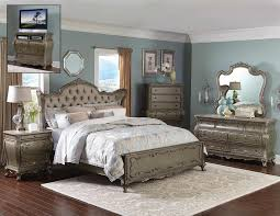 Bed Set Homelegance Florentina Bedroom Set Silver Gold 1867 Bedroom Set