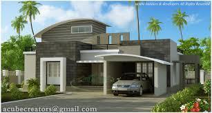 contemporary single floor house plans in kerala