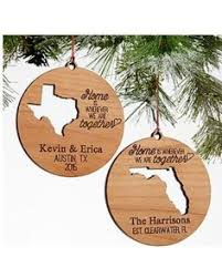 carved in personalized ornament tree trunks tree designs