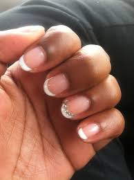 somethings about nail art rhinestone gel french manicure with rhinestones i like with maybe just