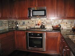 glass top kitchen island backsplash ideas brown varnished wooden dining table