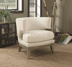 Upholstered Accent Chair Barrel Back Upholstered Accent Chair White Accent Chairs Coa