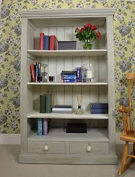 White Shabby Chic Bookcase by Shabby Chic Bookcase Shelves Cream Dresser Display Wall Unit