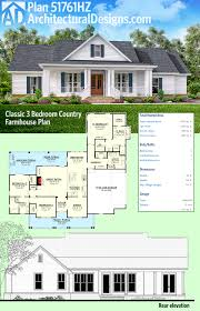architectural designs home plans plan 51761hz classic 3 bed country farmhouse plan architectural
