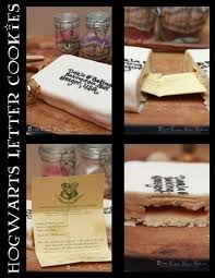 hogwarts envelope cookies have acceptance letters inside neatorama