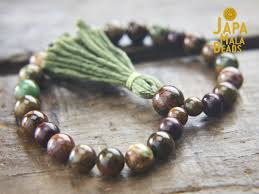 green opal u0026 rosewood mala u2013 japa mala beads