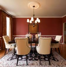 molding on wall dining room traditional with upholstered dining
