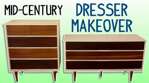 midcentury dresser makeover with homemade wood stain youtube