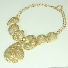 big gold fashion necklace images 2018 new sale big butterfly tie dubai african gold bead necklace jpg