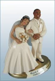 one of a kind wedding cake toppers and figurines hand sculpted of