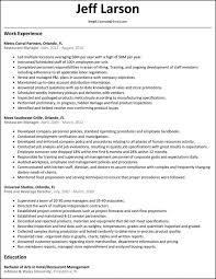 Restaurant Manager Resume Sample Free by General Resume Sample General Manager Resume General Resume Sample