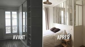 cloison pour separer une chambre avant après une verrière intérieure pour séparer sans