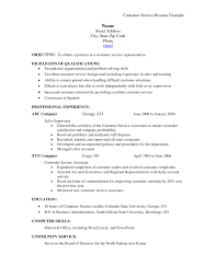 Summary For Resume Example by Customer Service Skills Resume Resume Example