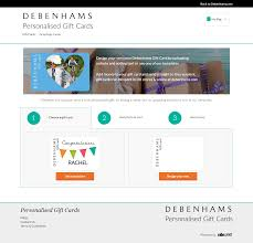 send gift cards debenhams gift card web design development mobile app development