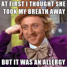 she was an allergy meme on imgur