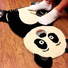 buy handcrafted panda shaped rug hand made gifts online india