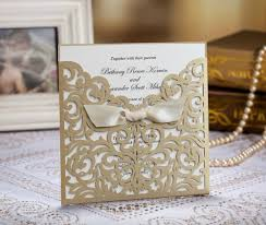 Wedding Invitation Cards Aliexpress Com Buy Gold Wedding Invitation Cards With White
