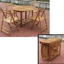 Folding Table And Chair Sets Interior Rustic 7 Pc Solid Wood Dining Table Chair Set Wooden L