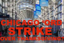 chicago o hare airport might experience service worker strike