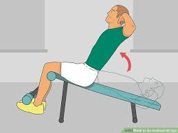 Sit Up Bench Benefits - how to do inclined sit ups 10 steps with pictures
