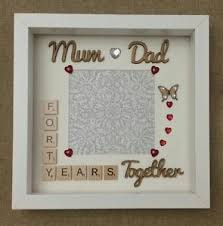 wedding anniversary plaques personalised handmade 40th ruby wedding anniversary frame and