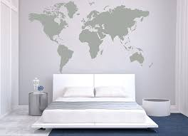 Designyours Removable Vinyl Wall Sticker Large World Map Wall
