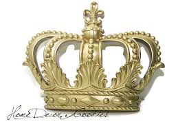 crown decor items similar to gold crown decor wall decor home living decor