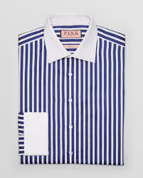 thomas pink gladwin stripe dress shirt contemporary fit in blue