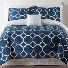 Bedding Set Home Expressions Tiles Navy Complete Bedding Set With Sheets