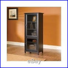 tall bookcase with glass doors wood storage cabinet tall bookcase glass doors dvd furniture shelves