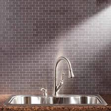 Aspect Backsplash Mini SubwayBrushed StainlessMatted - Aspect backsplash tiles