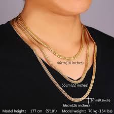 long mens necklace images Men long foxtail chain necklace 6mm width 32 39 39 length rose gold jpeg