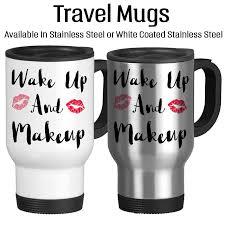 gifts for makeup artists wakeup and makeup 001 coffee mug water bottle travel mug