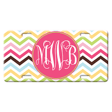 Personalized Cotton Candy Bags Chevron Personalized Decorative License Plate Car Tag