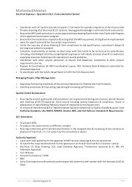 Instrumentation Project Engineer Resume Sr Electrical Engineer Specialist In Elv Instrumentation System Cv U2026