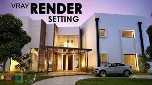 3ds max advance exterior rendering setting tutorial youtube
