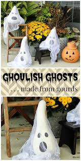 halloween ghosts made from gourds house of hawthornes