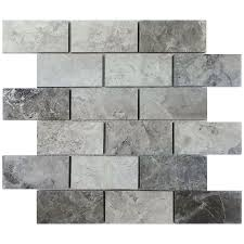 gray mosaic floor tile lowe u0027s mosaic u0026 wall tile marble