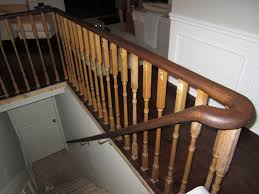 Painting Banisters Ideas Remodelaholic Updating An Oak Stair Or Handrail To White And Walnut