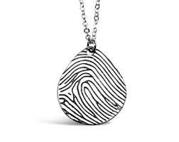 Custom Photo Necklace Fingerprint Jewelry Etsy