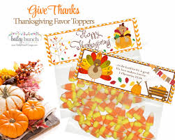thanksgiving treat thanksgiving give thanks treat bags thanksgiving treat toppers