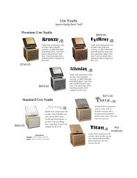 urn vaults outer burial containers for urns in and killeen