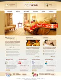 central hotels psd website template download download psd