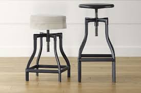 2 linen bar stool cushions turner black adjustable backless bar