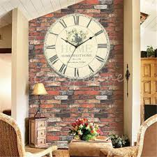 cheap home decor for sale large wall clock flower vintage rustic design home office cafe bar