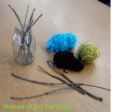 holiday craft making ideas twigs sticks string kids