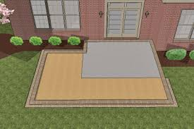 Concrete Patio With Pavers How To Install Larger Paver Patio Smaller Existing Concrete