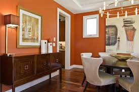 design ideas awesome dining room décor with artwork on orange