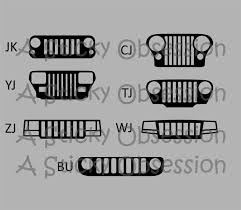 christmas jeep clip art jeep wrangler yj grill decal google search jeeps pinterest
