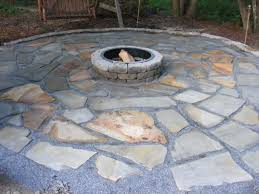 Flagstone Firepit Make A Flagstone Patio